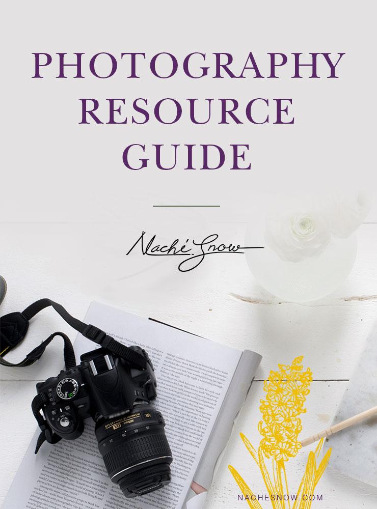 Photography Resource Guide on NacheSnow.com