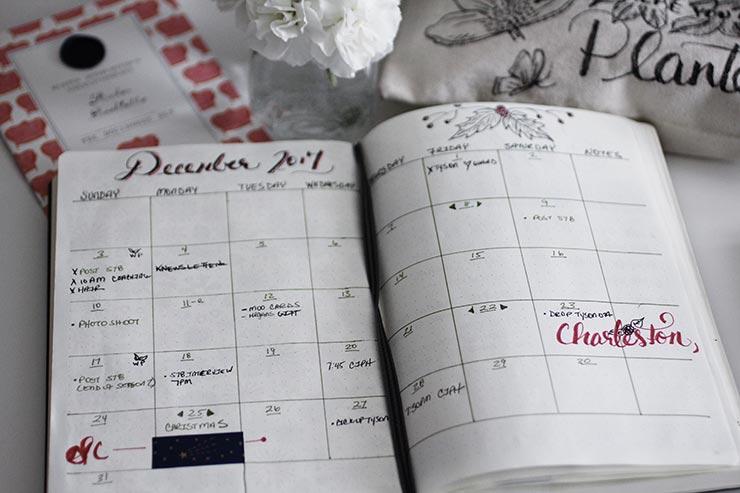 Bullet Journal Calendar | nachesnow.com/bulletjournal