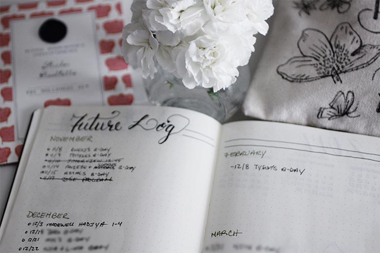 Bullet Journal Future Log | nachesnow.com/bulletjournal