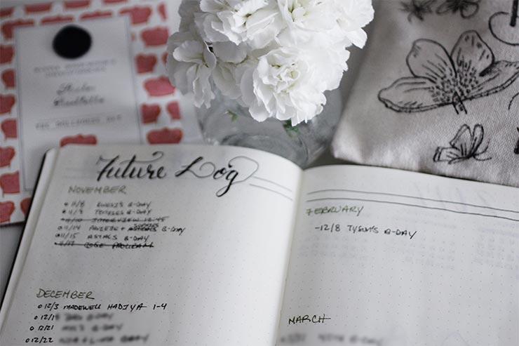 Bullet Journal Future Log | nachesnow.com/bulletjournal