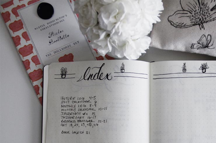 Bullet Journal Index | nachesnow.com/bulletjournal