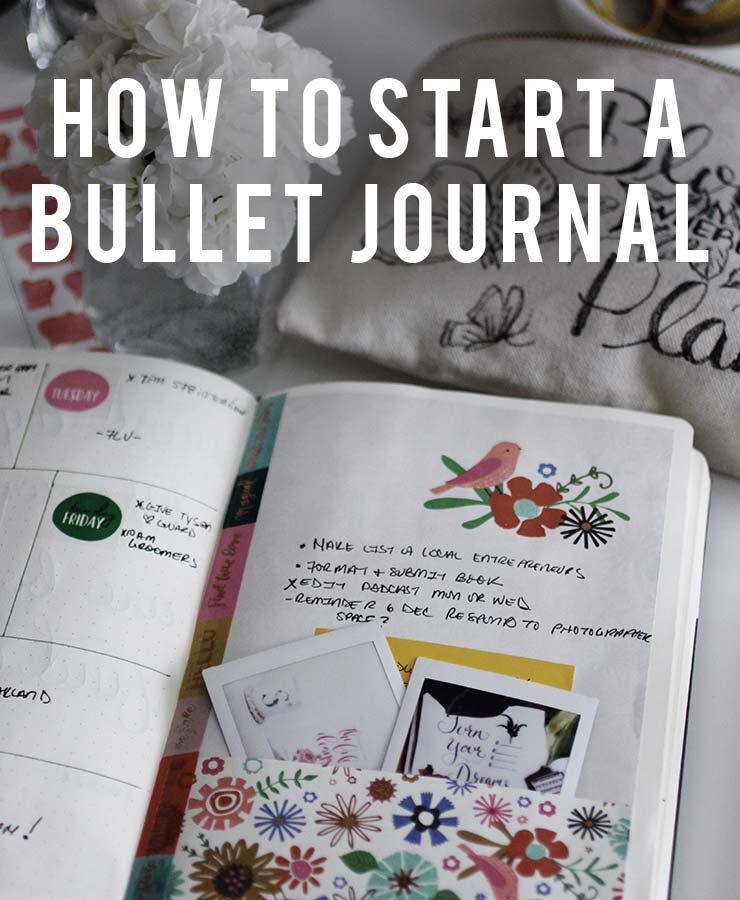 How to Start a Bullet Journal | nachesnow.com/bulletjournal